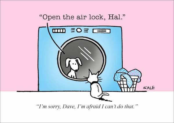 Cat Cartoons Graham Sale - hal and dave