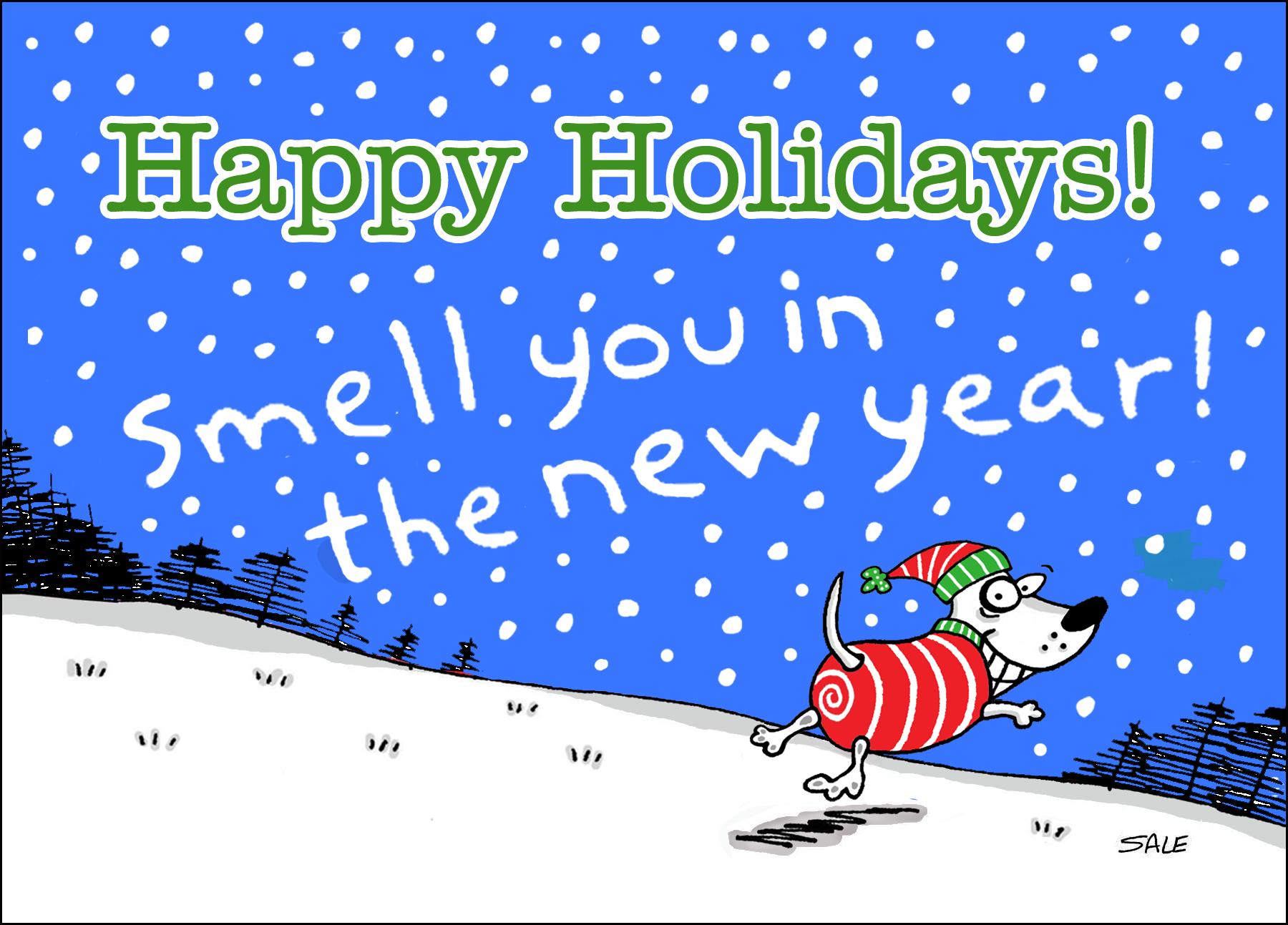 Happy Holidays Xmas Dog